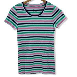 Tops - J. Crew stripe perfect fit crewneck tee small new